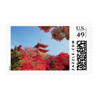 Asia, Japan, Kyoto. Autumn Colour Postage Stamp