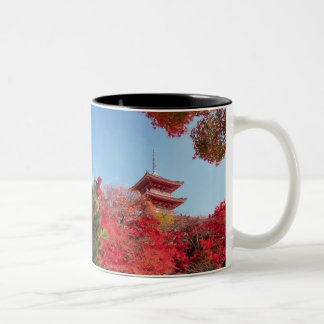 Asia, Japan, Kyoto. Autumn Colour Two-Tone Coffee Mug