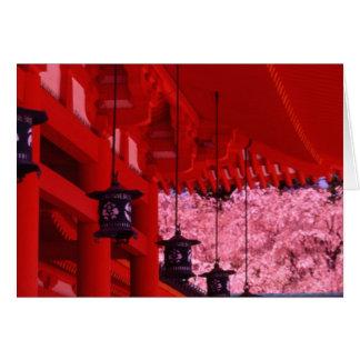 Asia, Japan, Kyoto, Heian shrine in spring. Card