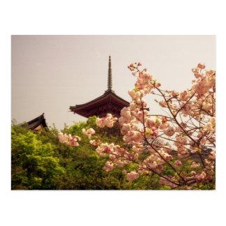 Asia, Japan, Kyoto, Kiyomizu temple in spring Postcard