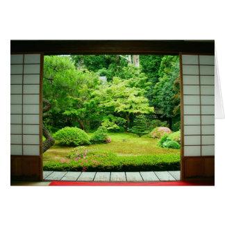 Asia Japan Kyoto Zen Garden 2 Card