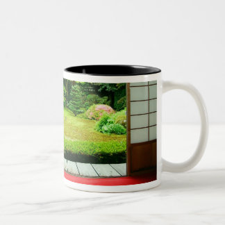 Asia, Japan, Kyoto. Zen Garden 2 Coffee Mugs