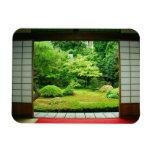 Asia, Japan, Kyoto. Zen Garden 2 Rectangular Photo Magnet