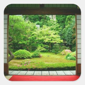 Asia, Japan, Kyoto. Zen Garden 2 Square Sticker