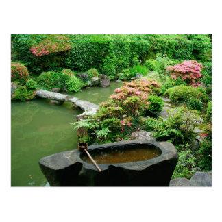 Asia, Japan, Kyoto. Zen Garden Postcard