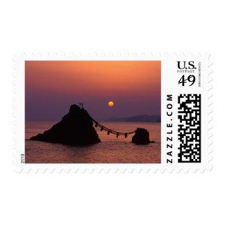Asia, Japan, Mie, Futamigaura at Dawn Postage Stamp
