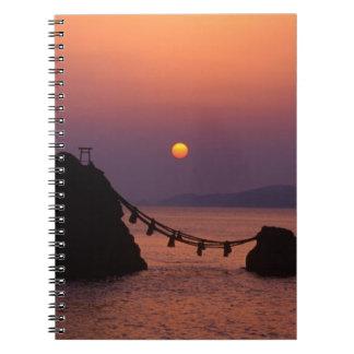 Asia, Japan, Mie, Futamigaura at Dawn Spiral Notebook