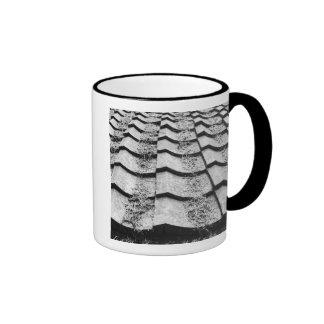 Asia, Japan, Miyajima. Clay roof detail Coffee Mug