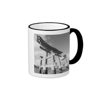 Asia, Japan, Miyajima. The Torri Gate. Coffee Mugs
