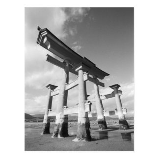 Asia, Japan, Miyajima. The Torri Gate. Postcard