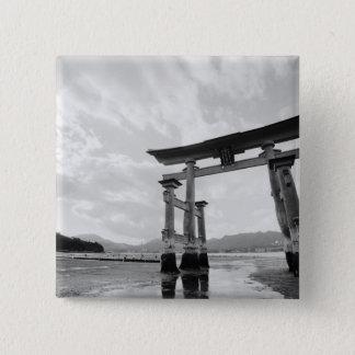 Asia, Japan, Myajima. Torri Gate 2 Button