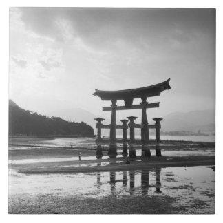 Asia, Japan, Myajima. Torri Gate Tiles