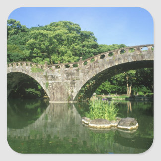 Asia, Japan, Nagasaki, Isahaya, Spectacles Square Sticker