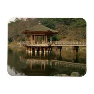 Asia, Japan, Nara, Temple in Nara Rectangular Photo Magnet