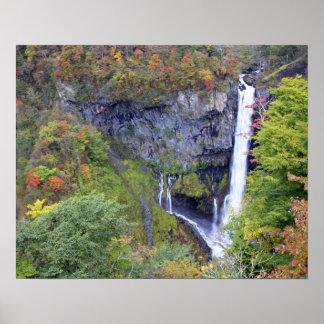 Asia, Japan, Nikko. Kegon waterfall of Nikko, a Poster