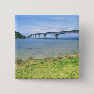 Asia, Japan, Okinawa, Kouri Bridge Pinback Button
