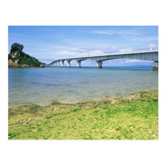 Asia, Japan, Okinawa, Kouri Bridge Postcard