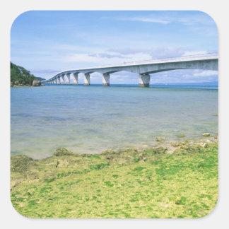 Asia, Japan, Okinawa, Kouri Bridge Square Stickers