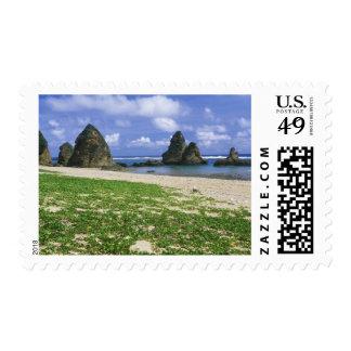 Asia, Japan, Okinawa, Yambaru Coastline, Sea Postage Stamp