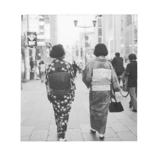 Asia, Japan, Tokyo. Geishas on the Ginza. Notepad