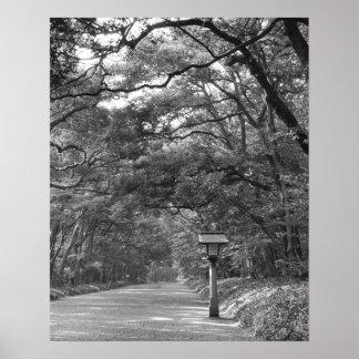 Asia, Japan, Tokyo, Grounds of Meiji Shrine, Poster
