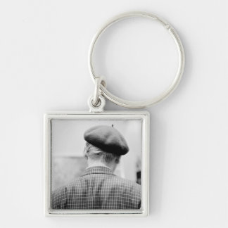 Asia, Japan, Tokyo. Man with Beret, Tokyo Metro Keychain