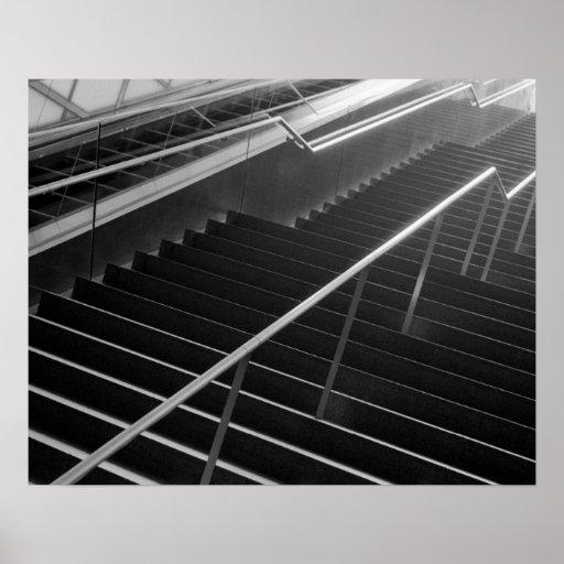 Asia, Japan, Tokyo. Stairs, Tokyo International 2 Poster