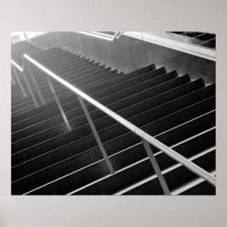 Asia, Japan, Tokyo. Stairs, Tokyo International 3 Poster