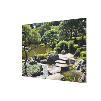 Asia, Japan, Tokyo. The Japanese Garden at the Canvas Print