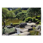 Asia, Japan, Tokyo. The Japanese Garden at the Greeting Card