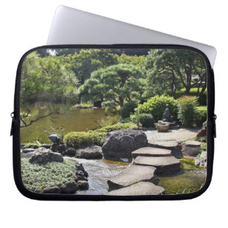 Asia, Japan, Tokyo. The Japanese Garden at the Laptop Computer Sleeves