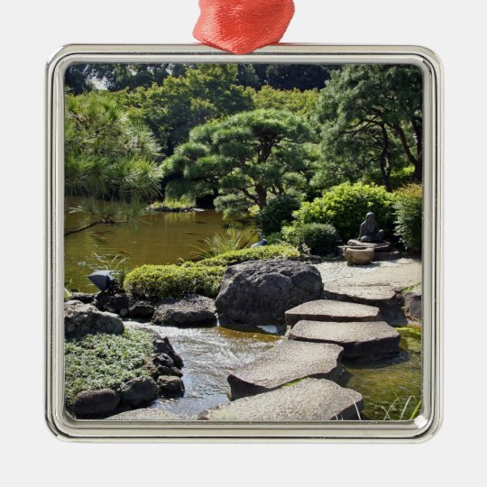 Asia, Japan, Tokyo. The Japanese Garden at the Metal Ornament