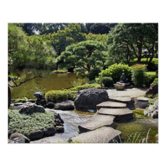 Asia, Japan, Tokyo. The Japanese Garden at the Poster