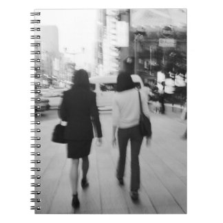 Asia, Japan, Tokyo. Young women on the Ginza. Notebook