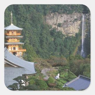 Asia, Japan, Wakayama, Katsuura, Kumano Nachi Square Sticker