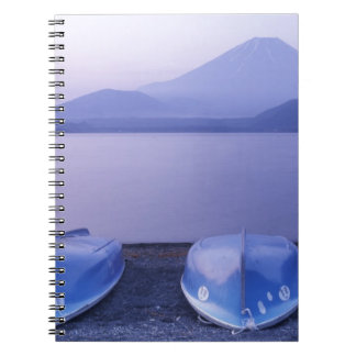 Asia, Japan, Yamanashi, Rowboats on Motosu Lake Notebook