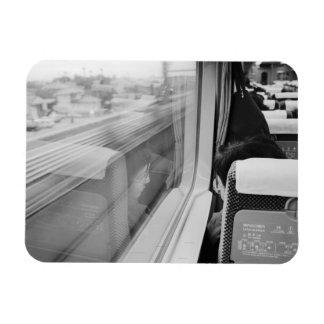 Asia, Japón. A bordo del tren de bala de Shinkanse Imanes De Vinilo
