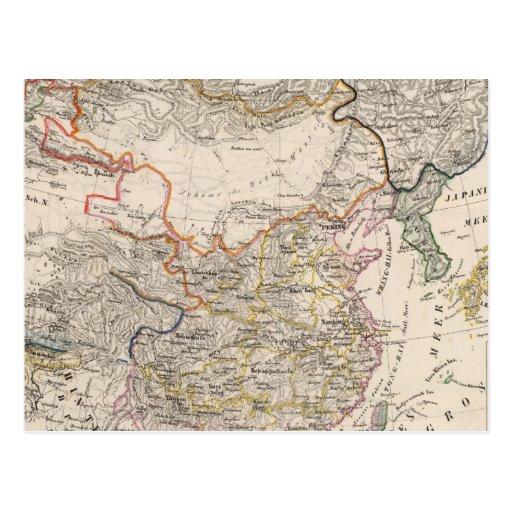 Asia, Japón, China Tarjeta Postal