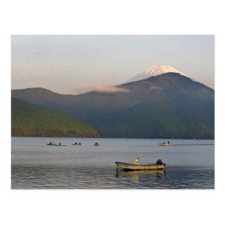 Asia, Japón, Hakone. Opiniones de la madrugada del Postales