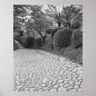 Asia, Japón, Hiroshima. Shukkei, jardín del en Poster