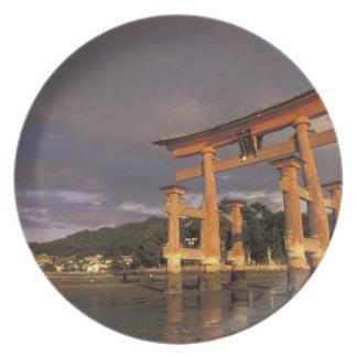 Asia, Japón, Honshu occidental, Miya, isla de Jima Platos De Comidas