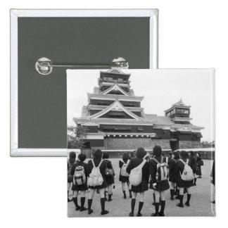 Asia, Japón, Kumamoto. Alumnos en Pin Cuadrada 5 Cm