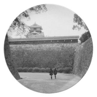 Asia, Japón, Kumamoto. Calzada y fosa principales, Plato