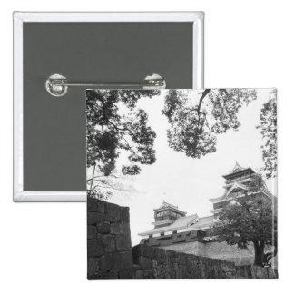 Asia, Japón, Kumamoto. Kumamoto, castillo del jo Pin Cuadrada 5 Cm