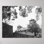 Asia, Japón, Kumamoto. Kumamoto, castillo del jo Póster
