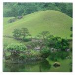 Asia, Japón, Kumamoto, Suizenji Koen Azulejo Cuadrado Grande