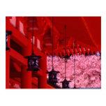 Asia, Japón, Kyoto, capilla de Heian en primavera Postal