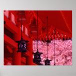 Asia, Japón, Kyoto, capilla de Heian en primavera Póster