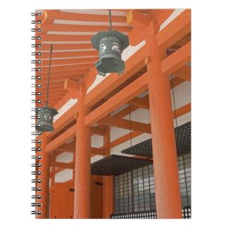 Asia, Japón, Kyoto, capilla de Heian Libros De Apuntes Con Espiral