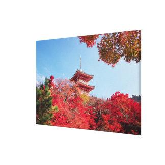 Asia, Japón, Kyoto. Color del otoño Impresión En Lona